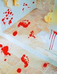 2 adesivi impronte di piedi insagnuinate