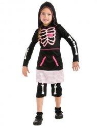 Costume da scheletro pink per bambina