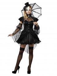 Costume bambola gotica con ombrello donna