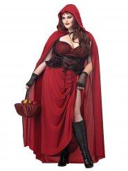 Costume cappuccetto rosso gotico halloween taglia grande