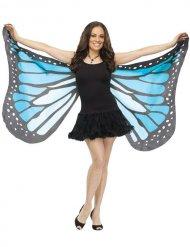 Ali da farfalla blu e nero per adulto