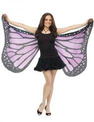 Ali da farfalla viola e nero per adulto