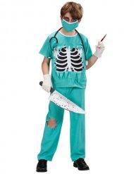 Costume da dottore zombi per bambino