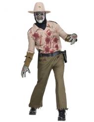 Costume da sceriffo zombie per uomo