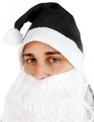 Cappello babbo Natale nero per adulto