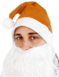 Capello arancione Babbo Natale Adulto
