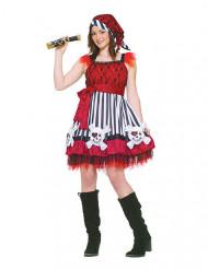 Travestimento da pirata rosso per donna