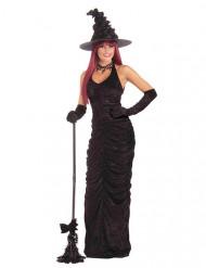 Costume nero da strega sexy per donna
