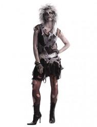 Costume zombie punk anni 80 per donna halloween