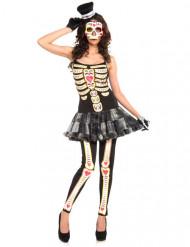 Costume scheletro per donna dia de los muertos