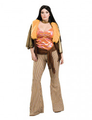 Costume da Hippie anni 60/70 per donna taglia grande