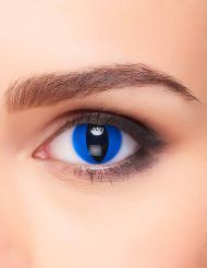 Lenti a contatto occhio di rettile blu per adulto