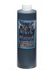 Bottiglia sangue zombie nero 470 ml Halloween