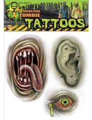 Kit tatuaggi zombi mutante