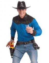 Cintura da cowboy con porta-bottiglia e porta-bicchieri