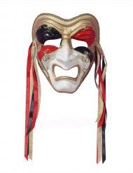 Maschera veneziana Alecchino in lacrime