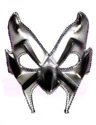 Maschera Veneziana Diavolo Argentata