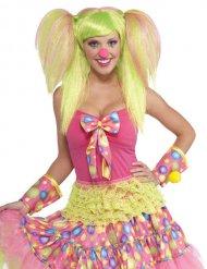 Parrucca da clown  con codini per donna