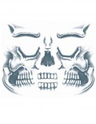 Tatuaggio temporaneo viso da scheletro adulto
