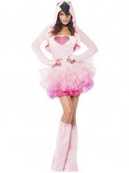 Costume da fenicottero rosa sexy per donna