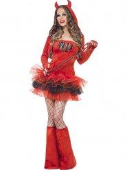 Costume da diavolessa sexy con tutu per donna