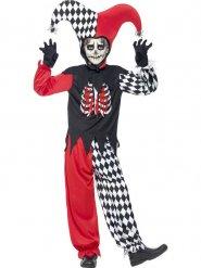 Costume da joker spaventoso per bambino Halloween