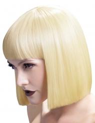Parrucca caschetto biondo platino deluxe per donna