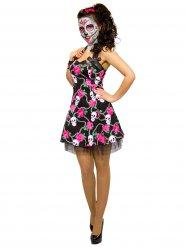 Costume abito con teschio Dia de los muertos per donna