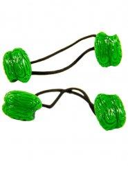2 Elastici per capelli con cervello verde