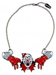 Collana da clown spaventoso per adulto Kreepsville