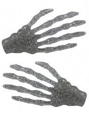 2 Fermagli per capelli mani da scheletro