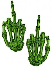 2 Toppe mani scheletro dito medio