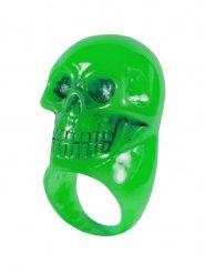 Anello verde a forma di teschio