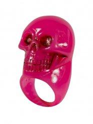 Anello rosa con teschio halloween