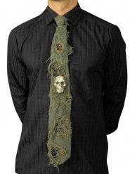 Cravatta halloween con teschio