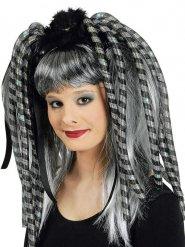 Estensioni di capelli lampeggianti grigie per donna