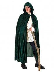 Mantello medievale di velluto con cappuccio per adulto