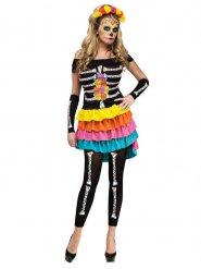 Leggings neri con scheletro per donna