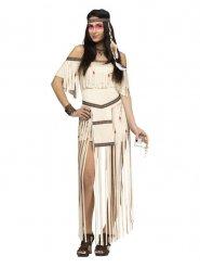 Costume da indiana a frange lunghe per donna