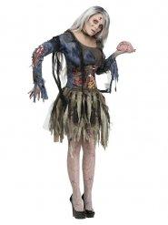 Costume da donna zombie per halloween