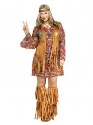Costume hippie anni 60 per donna taglia grande