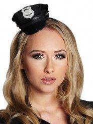 Cerchietto con cappellino della polizia per donna