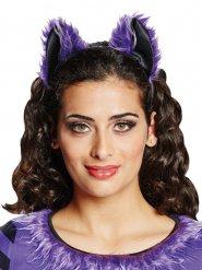 Cerchietto con orecchie da pipistrello per donna