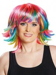 Parrucca colorata con frangetta