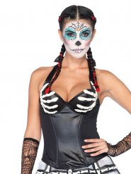 Corsetto da scheletro sexy per donna halloween