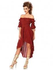 Costume da dea romana rosso per donna