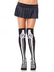 Calze con scheletro per donna halloween