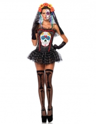 Corsetto dia de los muertos halloween donna