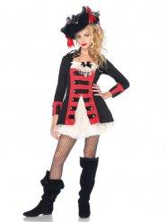 Costume deluxe da capitano dei pirati per adolescente