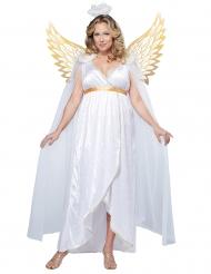 Costume angelo bianco e oro taglie forti  donna